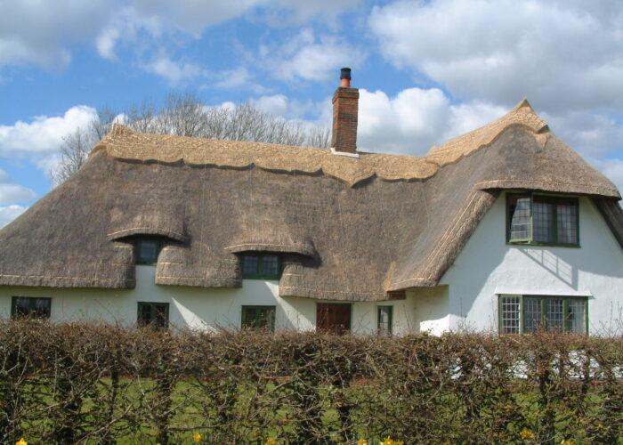 Block-cut re-ridge of large house in Rickling, Essex